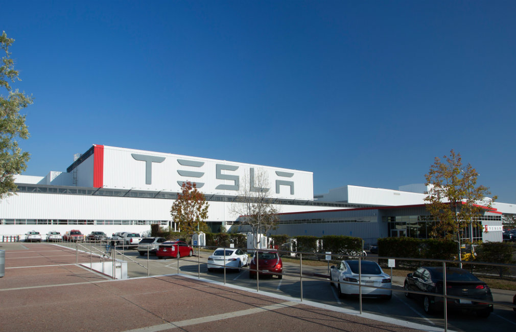 The Tesla Factory plant in Fremont, California