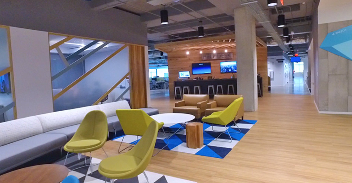 Bazaarvoice's headquarters workspace in Austin, Texas designed with CBRE